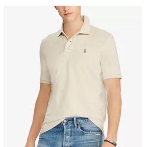 Men's POLO by RALPH LAUREN Oatmeal Polo Shirt XL